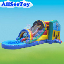Good Quality Inflatable Bouncer Slide Water Pool Combo,Used Commercial Bouncy Castle Bounce House for Kids