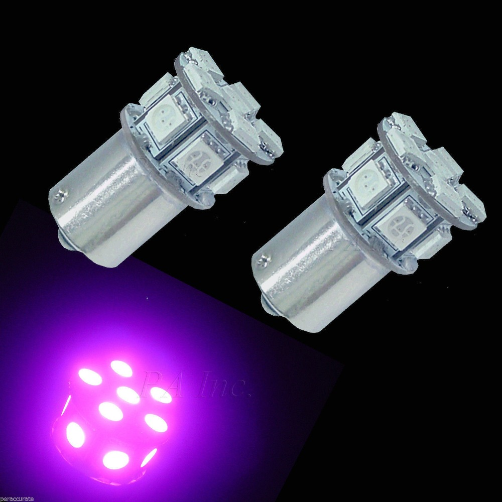 Ba15s Bau15s 1093 1156 13 5050 SMD LED For Auto Car Signal Turn Lamp Bulbs Pinky Purple