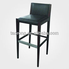 New design wooden bar stool /modern style wooden bar stool/ leather chairs for coffee shop BS-013
