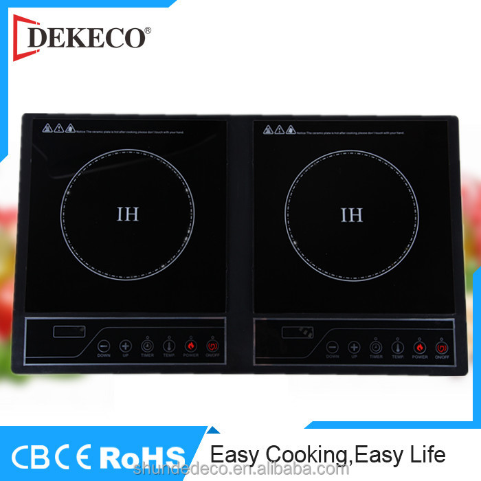 kitchen applinace double burner induction cooker with press button control