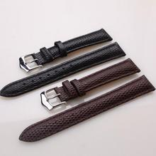 Handmade Band Genuine Leather Lizard Grain Strap of Swatch Watch Replacement