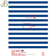 digital printing blue and white stripe fabric for swimming suit