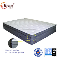 Cheap pillow top pocket spring compressed bed sponge mattress