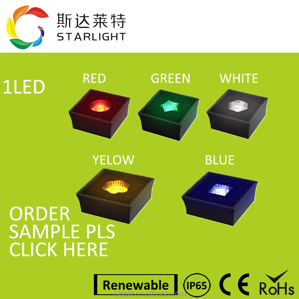 Green Energy Power red IP68 waterproof park led stone light