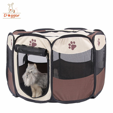 Folding Dog Playpen,Puppy Playpen with Eight Panels