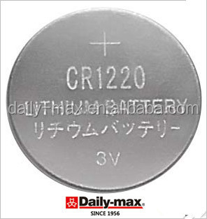 Button cell CR1220 3V Lithium Battery