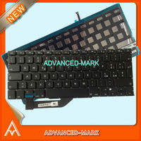 "New ! Laptop Keyboard for MacBook Pro 15"" A1398 mc975 MC976 RETINA Model , IT / Italian / Italy Keyboard with Backlight , Black"