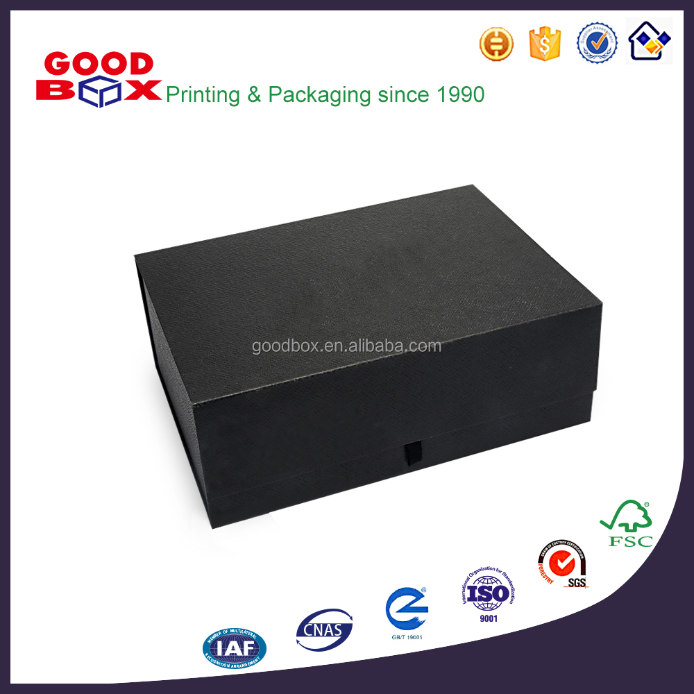 Stackable folding cardboard rigid paper gift box for clothes packaging