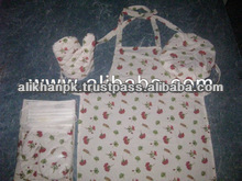 Cooking Apron & Oven Mitten Set