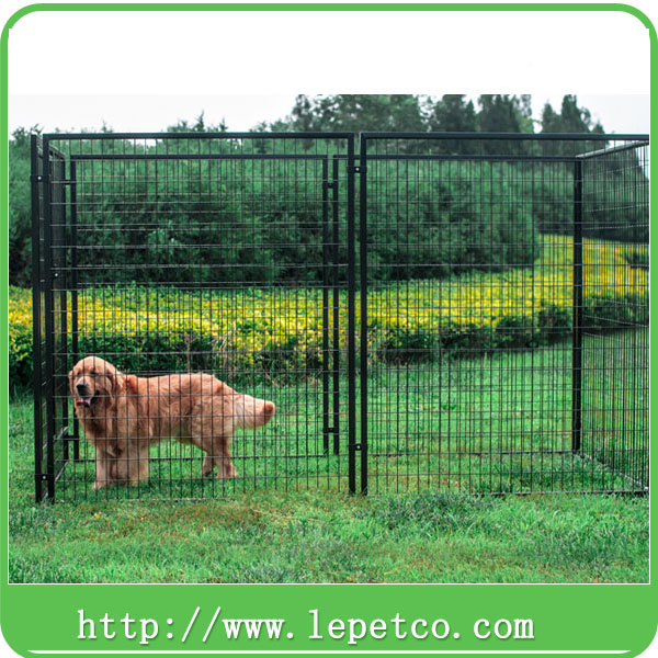 Factory direct wholesale 10x5x6 ft classic galvanized outdoor dog kennel