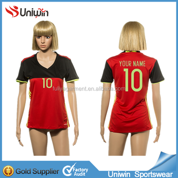 Women thai quality sublimation soccer jersey