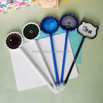 Customized Neptune design Card shape ball pen