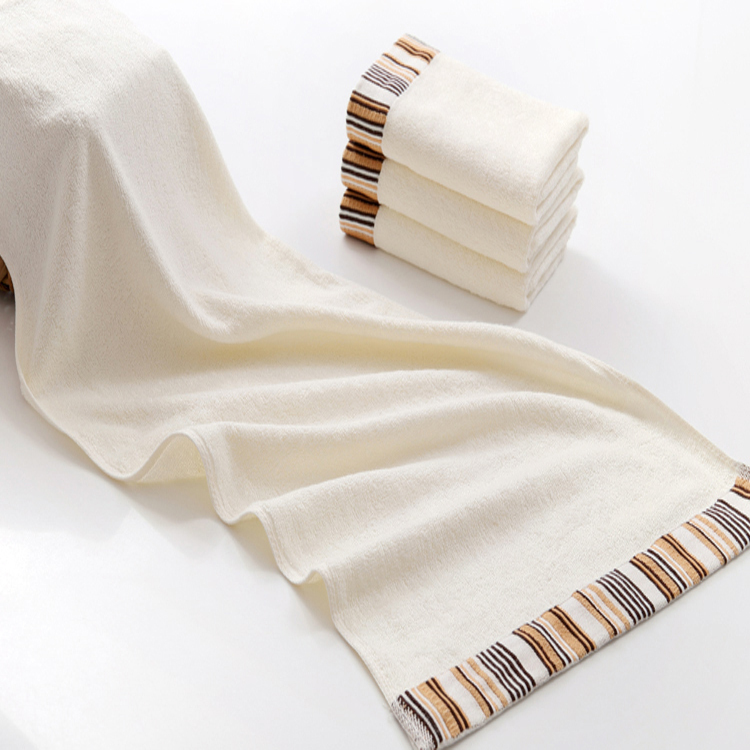high quality 2015 best selling striped sports towel,combed cotton yarn towels