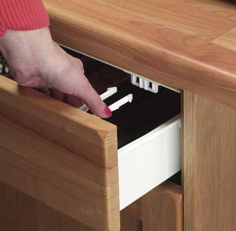 Plastic Child proof home baby safety drawer lock