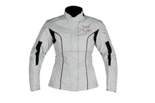 Ladies Armoured Waterproof Cordura Motorbike Jacket Pink,Fit,Full Zip CE