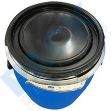 120L HDPE food grade Plastic barrel drum with screw lid and metal ring