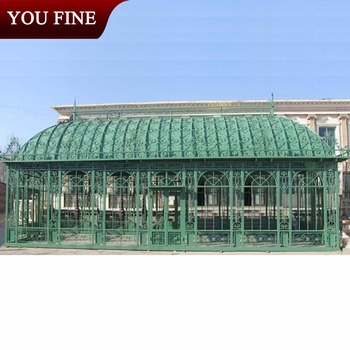 Large Garden Decorative Green Iron Gazebo
