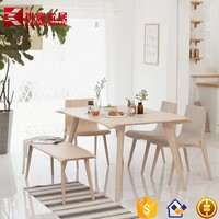 China factory wholesale korean style wooden pictures of dining table chair