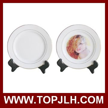 dishwasher safe plain white round ceramic dinner plates