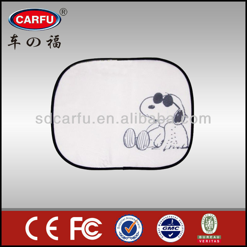 Hot selling car static cling printing window cartoon sunshade with high quality