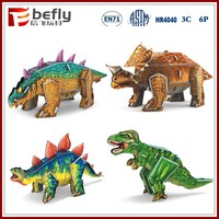 Educational play game toy 3d paper dinosaur puzzle