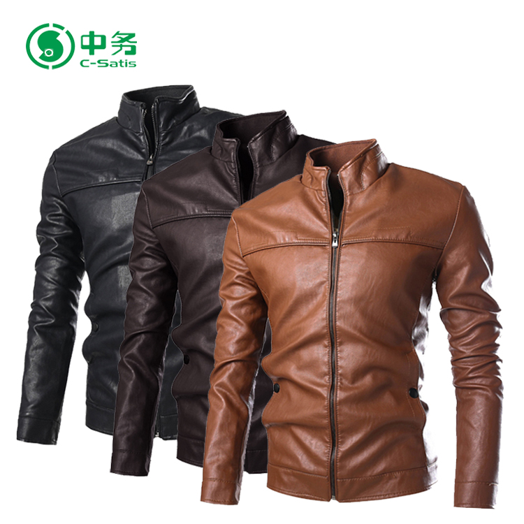 Cheap Price Wholesale Pakistan PU Leather Jackets for Men
