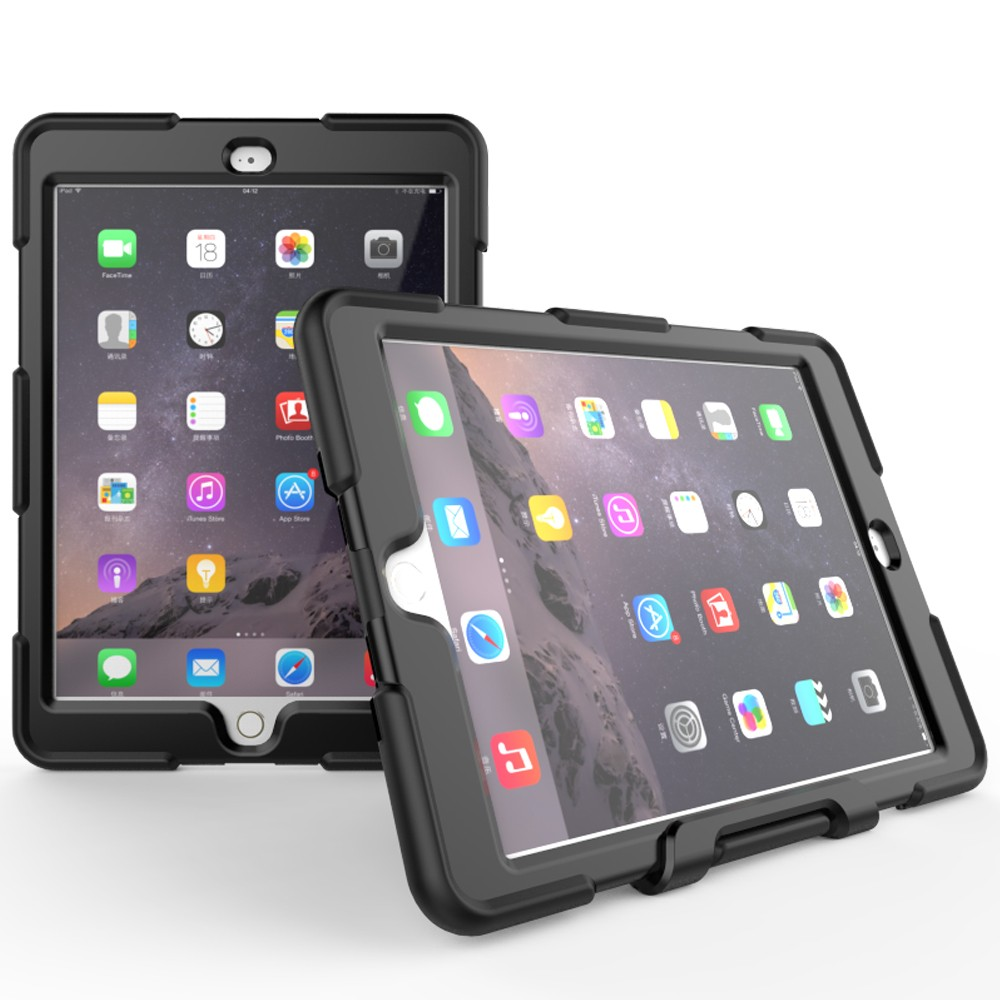PC Silicone Hybird Shockproof Case For iPad air 2 Tablet Case