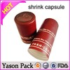Yason pouch with screw cap custom design shrink wrap cap seal wine bottle foil caps