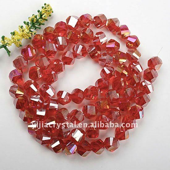 Crystal Glass hanging Faceted Twist Bead In bulk