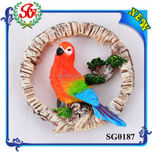 SG0187 Beautiful Plume Parrot Fridge Magnet Animal
