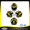 Multicolor yellow open face vintage motorcycle helmet