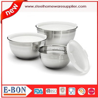 Multi function stainless steel salad bowls