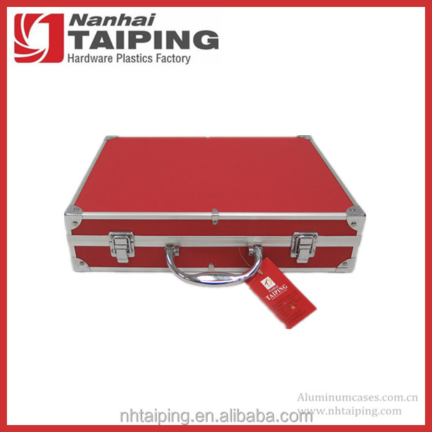 High Quality Red Portable Metal lights Tool Box Tool Case