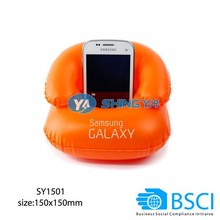 Inflatable mobile phone holder for promotion