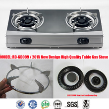 Stainless Steel 2 burner stainless steel pipe burner stainless steel chinese wor burner (RD-GD099)gas cooker