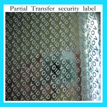 security void adhesive printing label/sticker
