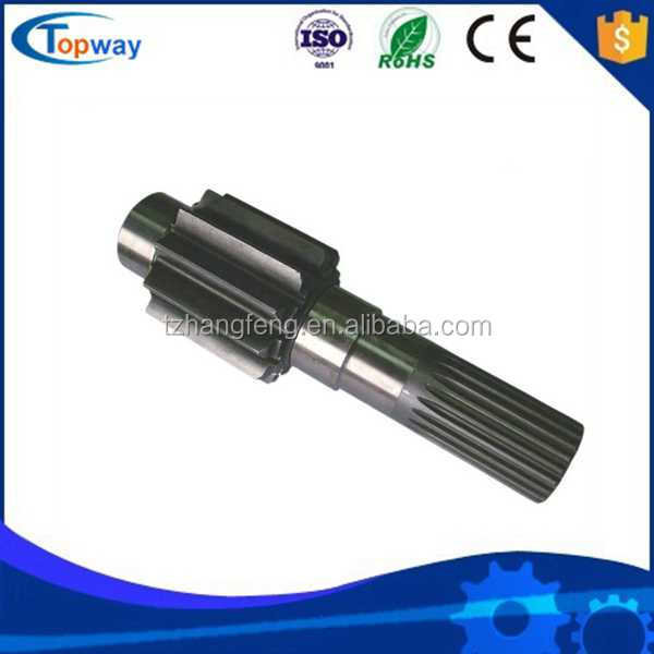 1045 steel 6teeth involute spline shaft for gearbox gear reducer agriculture machine