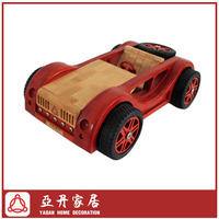 Bamboo handmade streamling body scale model car