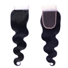 Hot sale unprocessed 10a loose wave wavy brazilian closure hair