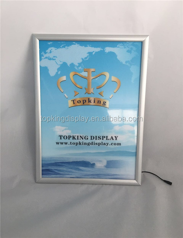 Eco-friendly aluminum silver 25mm profile led light box snap frame