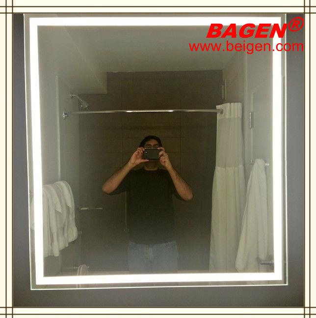 modern led light mirrorled backlit bathroom decorative mirror bgl008 buy led light wall mirror product on