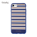 IMD Blue Gold White Stripes Printed Shock Absorption Matte TPU Soft Rubber Protective Cover Phone Case For iPhone 8 Plus
