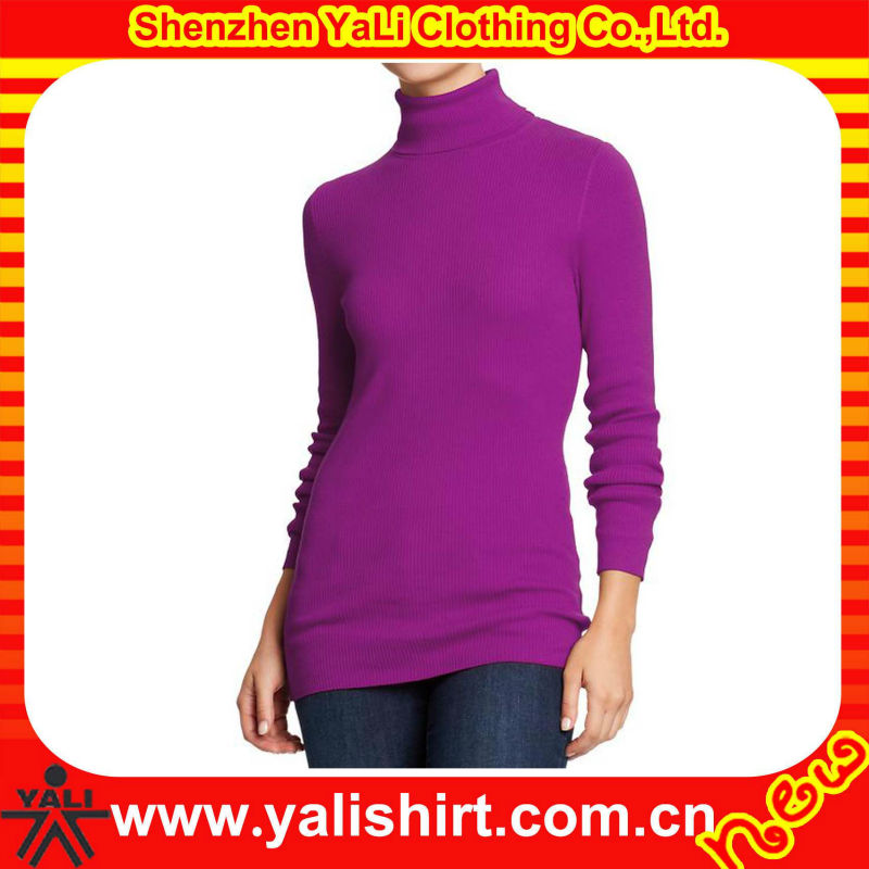 Custom latest elegant fit pullover knit warm tight long sleeve women winter sweater 2013