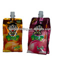 doypack packing with cap,aluminum juice foil pouch with spout and cap, aseptic foil pouches