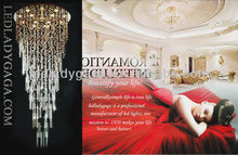 500cm Highest Hanging Crystal crystal chandeliers table decoration lights