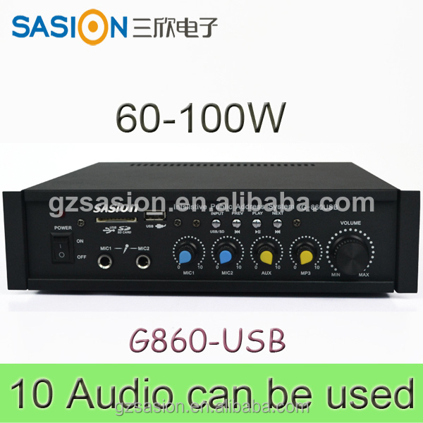 SASION pa amplifie AV 100W echo mixer amplifier mini audio amplifier