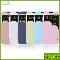 High quality Window leather flip case for samsung galaxy s4 i9500