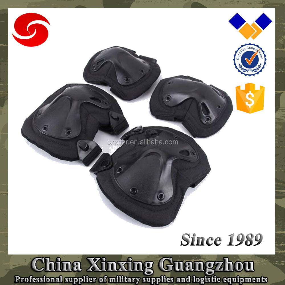 Military ABS PC cover 600D polyester elbow knee pads with EVA foam in different color