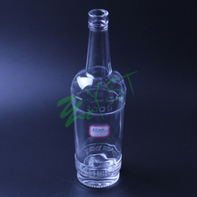 Hot sale vodka glass bottle clear glass bottle glass soda bottle