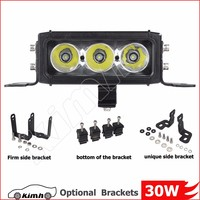 4wd accessories single row 30w automobile fog lights